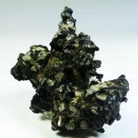 Native Silver Acanthite & Calcite