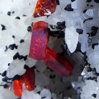 Realgar & Native Arsenic On Quartz