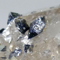 Anatase On Rock Crystal