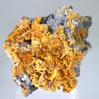Wulfenite Cerussite & Hemimorphite On Galena