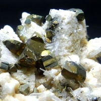 Chalcopyrite Pyrite & Rock Crystal On Dolomite Psm Calcite