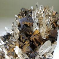Siderite & Rock Crystal