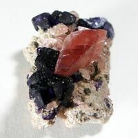 Rhodochrosite Fluorite Helvine & Pyrite