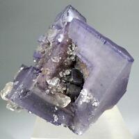Fluorite With Galena & Calcite
