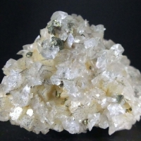 Chalcopyrite & Calcite On Dolomite Psm Calcite
