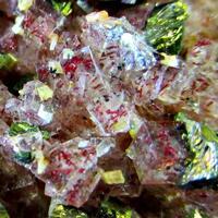Fluorite & Chalcopyrite On Baryte