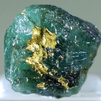 Native Gold On Emerald