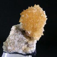 Calcite On Quartz With Impsonite