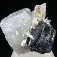 Danburite On Datolite & Sphalerite