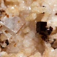 Bariopharmacosiderite & Fluorite On Quartz