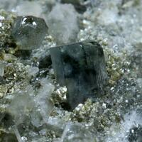 Fluorapatite Fluorite & Dolomite On Quartz