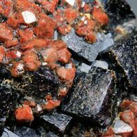Eisenkiesel On Fluorite Var Stink-Fluss