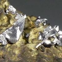 Sperrylite On Chalcopyrite With Talnakhite