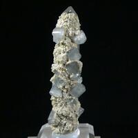 Fluorapatite On Rock Crystal