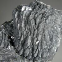 Calcite With Jamesonite Inclusions & Stibnite