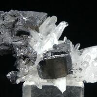 Hübnerite With Tetrahedrite On Quartz
