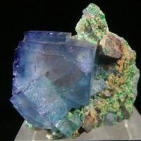 Fluorite With Brochantite Galena & Anglesite
