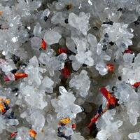 Realgar & Arsenic On Quartz