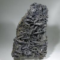 Pyrrhotite With Calcite With Jamesonite Inclusions & Sphalerite On Quartz