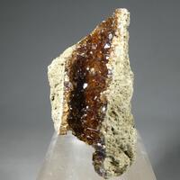 Calcite & Natrolite On Natrolite Psm Fossil Wood