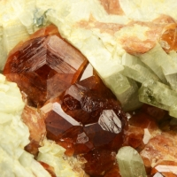 Hessonite & Diopside