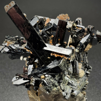 Aegirine On Smoky Quartz With Zircon & Albite