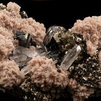 Sphalerite Rhodochrosite Pyrite & Quartz
