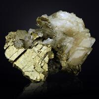 Pyrite With Baryte & Quartz