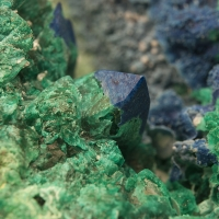 Plancheite & Chrysocolla Psm Quartz
