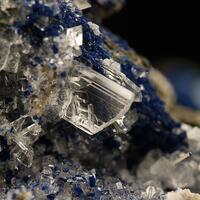Azurite With Gypsum