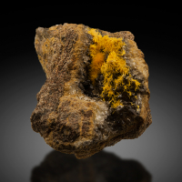Boltwoodite With Calcite & Goethite