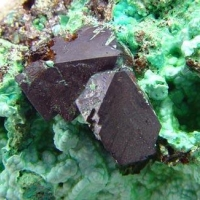 Cuprite On Chrysocolla
