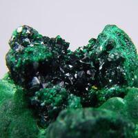Brochantite On Malachite