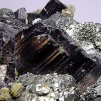 Ferberite On Arsenopyrite