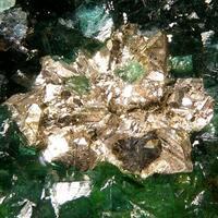 Native Silver Ferrilotharmeyerite & Cuprian Adamite