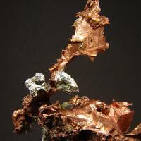 Native Silver On Native Copper