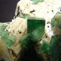 Fluorite On Feldspar