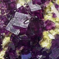Fluorite On Zinnwaldite