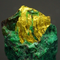 Gold On Malachite
