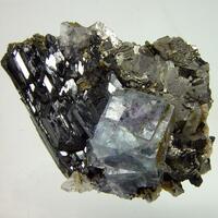 Fluorite On Ferberite