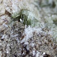 Apatite Var Fluorapatite With Vesuvianite & Diopside