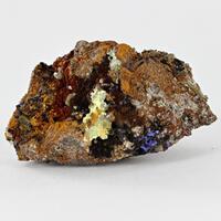 Iodargyrite With Chlorargyrite & Azurite