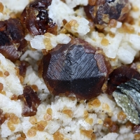 Spessartine On Feldspar