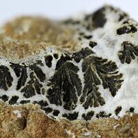 Psilomelane With Calcite