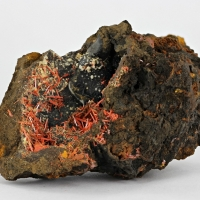Crocoite With Gibbsite