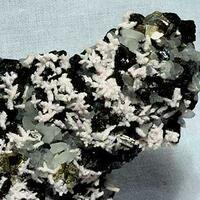 Manganoan Calcite Sphalerite & Bournonite