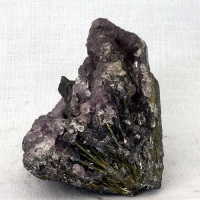 Stibnite With Fluorite