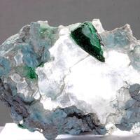 Plancheite Gypsum & Malachite