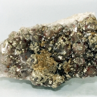 Pyrite On Smoky Quartz