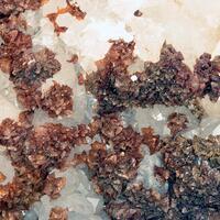 Quartz & Siderite On Fluorite